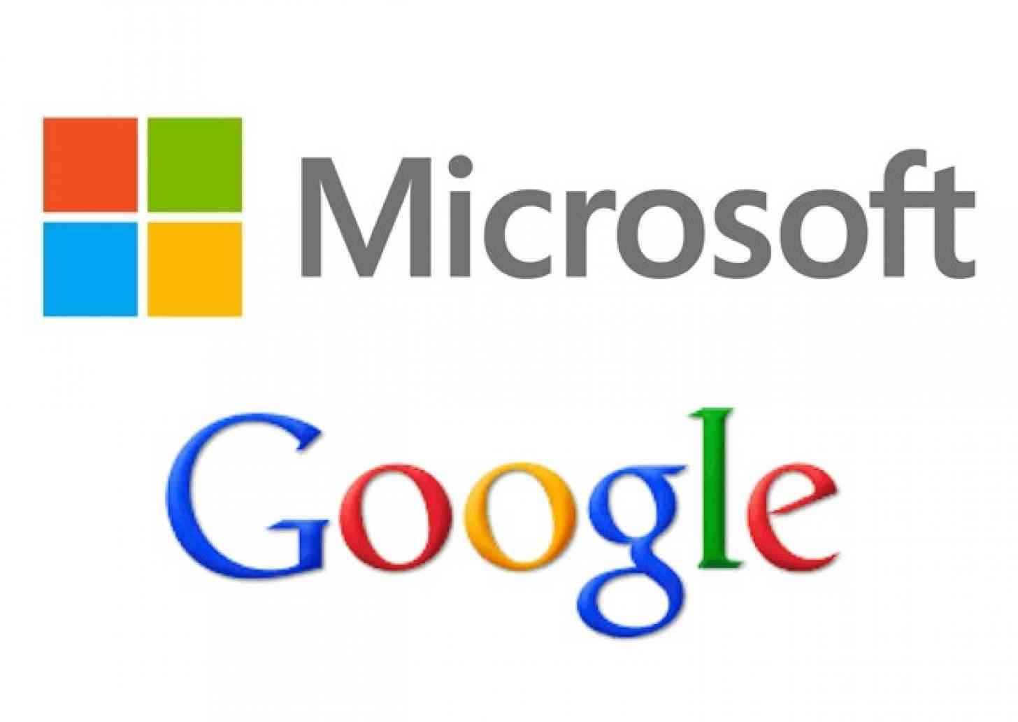 Hasil gambar untuk logo microsoft dan google